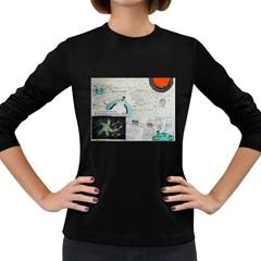 Neutrino Gravity, Women s Long Sleeve T-shirt (Dark Colored)