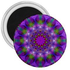 Rainbow At Dusk, Abstract Star Of Light 3  Button Magnet