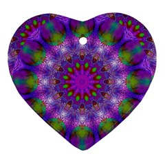 Rainbow At Dusk, Abstract Star Of Light Heart Ornament