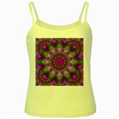 Rainbow At Dusk, Abstract Star Of Light Yellow Spaghetti Tank