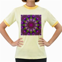 Rainbow At Dusk, Abstract Star Of Light Women s Ringer T-shirt (Colored)