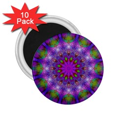 Rainbow At Dusk, Abstract Star Of Light 2.25  Button Magnet (10 pack)