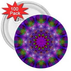 Rainbow At Dusk, Abstract Star Of Light 3  Button (100 pack)