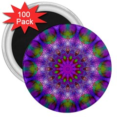 Rainbow At Dusk, Abstract Star Of Light 3  Button Magnet (100 pack)