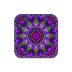 Rainbow At Dusk, Abstract Star Of Light Drink Coaster (Square)