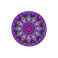 Rainbow At Dusk, Abstract Star Of Light Magnet 3  (round)