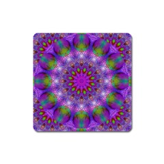 Rainbow At Dusk, Abstract Star Of Light Magnet (Square)