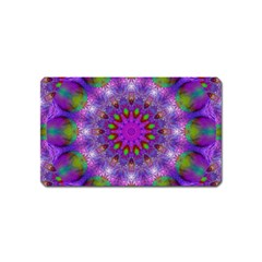 Rainbow At Dusk, Abstract Star Of Light Magnet (Name Card)