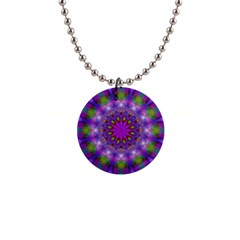 Rainbow At Dusk, Abstract Star Of Light Button Necklace