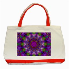 Rainbow At Dusk, Abstract Star Of Light Classic Tote Bag (Red)