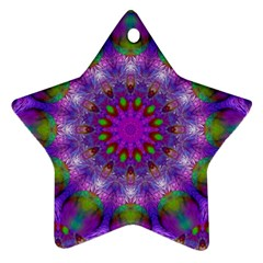 Rainbow At Dusk, Abstract Star Of Light Star Ornament (Two Sides)