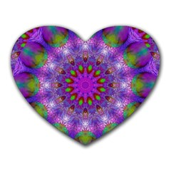 Rainbow At Dusk, Abstract Star Of Light Mouse Pad (heart)