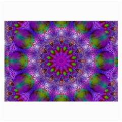 Rainbow At Dusk, Abstract Star Of Light Glasses Cloth (large, Two Sided)