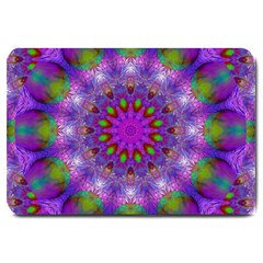 Rainbow At Dusk, Abstract Star Of Light Large Door Mat