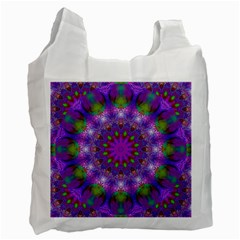 Rainbow At Dusk, Abstract Star Of Light White Reusable Bag (One Side)