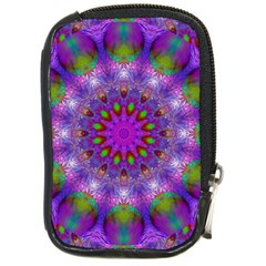 Rainbow At Dusk, Abstract Star Of Light Compact Camera Leather Case