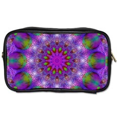Rainbow At Dusk, Abstract Star Of Light Travel Toiletry Bag (two Sides)