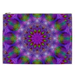 Rainbow At Dusk, Abstract Star Of Light Cosmetic Bag (xxl)
