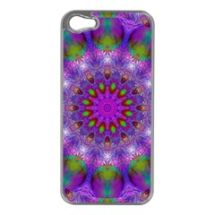 Rainbow At Dusk, Abstract Star Of Light Apple iPhone 5 Case (Silver)
