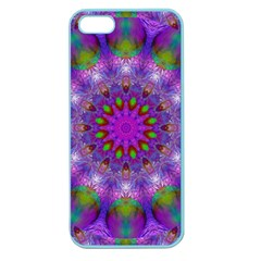 Rainbow At Dusk, Abstract Star Of Light Apple Seamless Iphone 5 Case (color)