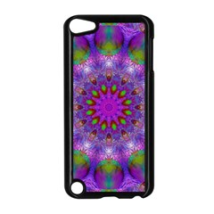 Rainbow At Dusk, Abstract Star Of Light Apple iPod Touch 5 Case (Black)