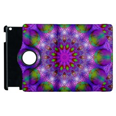 Rainbow At Dusk, Abstract Star Of Light Apple iPad 2 Flip 360 Case