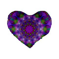 Rainbow At Dusk, Abstract Star Of Light 16  Premium Heart Shape Cushion