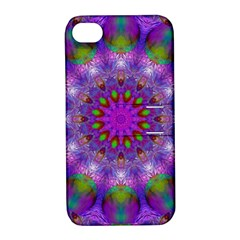 Rainbow At Dusk, Abstract Star Of Light Apple iPhone 4/4S Hardshell Case with Stand