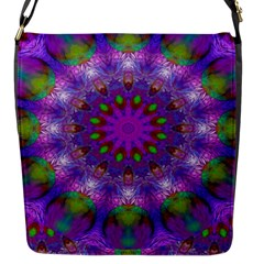 Rainbow At Dusk, Abstract Star Of Light Flap Closure Messenger Bag (Small)
