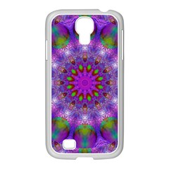 Rainbow At Dusk, Abstract Star Of Light Samsung GALAXY S4 I9500/ I9505 Case (White)