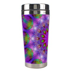 Rainbow At Dusk, Abstract Star Of Light Stainless Steel Travel Tumbler