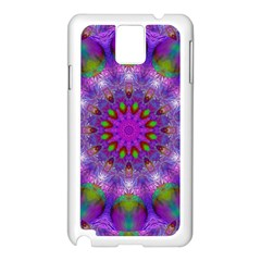 Rainbow At Dusk, Abstract Star Of Light Samsung Galaxy Note 3 N9005 Case (White)