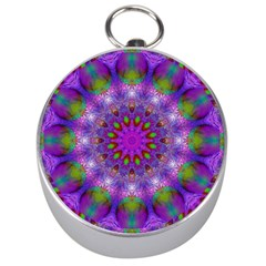 Rainbow At Dusk, Abstract Star Of Light Silver Compass