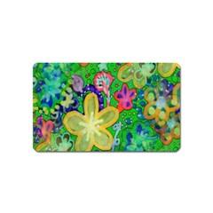 Beautiful Flower Power Batik Magnet (Name Card)