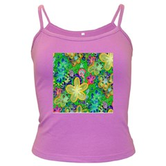 Beautiful Flower Power Batik Spaghetti Top (colored)
