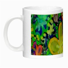 Beautiful Flower Power Batik Glow in the Dark Mug