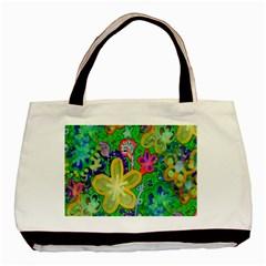 Beautiful Flower Power Batik Classic Tote Bag