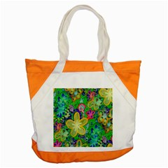 Beautiful Flower Power Batik Accent Tote Bag