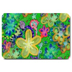 Beautiful Flower Power Batik Large Door Mat