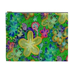 Beautiful Flower Power Batik Cosmetic Bag (xl)