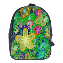 Beautiful Flower Power Batik School Bag (Large)