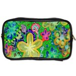 Beautiful Flower Power Batik Travel Toiletry Bag (Two Sides) Front