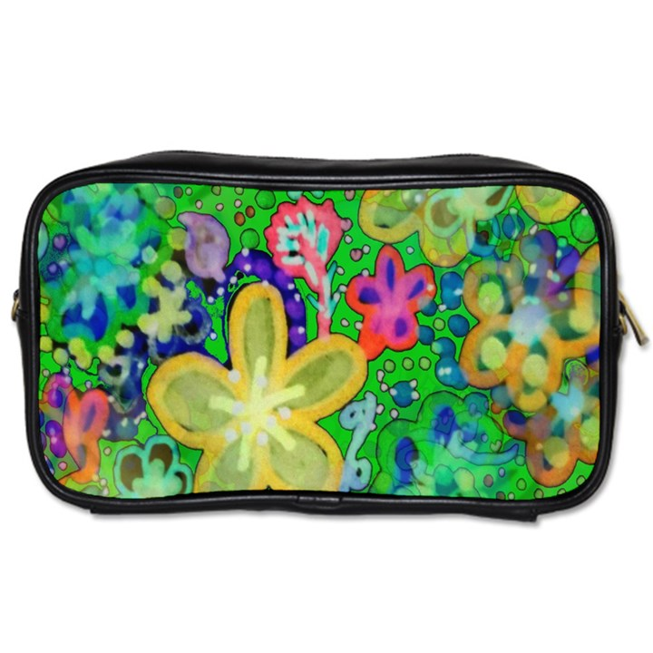 Beautiful Flower Power Batik Travel Toiletry Bag (Two Sides)