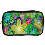 Beautiful Flower Power Batik Travel Toiletry Bag (Two Sides) Back