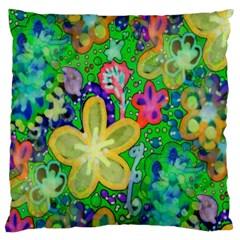 Beautiful Flower Power Batik Large Cushion Case (Single Sided)