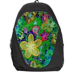 Beautiful Flower Power Batik Backpack Bag