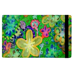 Beautiful Flower Power Batik Apple Ipad 2 Flip Case