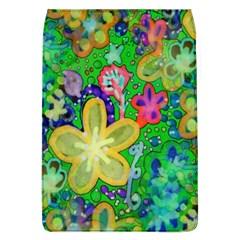 Beautiful Flower Power Batik Removable Flap Cover (large)