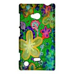Beautiful Flower Power Batik Nokia Lumia 720 Hardshell Case