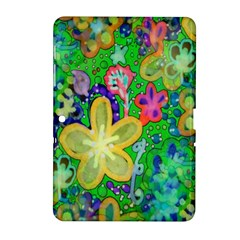 Beautiful Flower Power Batik Samsung Galaxy Tab 2 (10.1 ) P5100 Hardshell Case